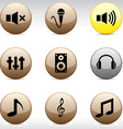 Audio icons vector image vector image