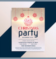awesome christmas flyer party design vector image vector image