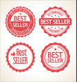 best seller retro vintage badge and labels vector image vector image