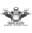 Bikers Festival Emblem vector image vector image