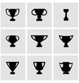 black trophy icon set vector image