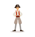 brave pirate sailor character vector image vector image