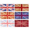 british flag grunge vector vector image