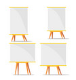 business blank training paperboard set vector image