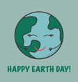 card for earth day go green vector image