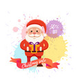 cartoon santa claus for your christmas and new vector image vector image