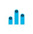 charts icon colored symbol premium quality vector image vector image