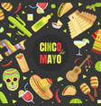 cinco de mayo banner template mexican holiday vector image