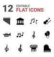 classical icons vector image vector image