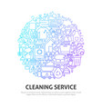 cleaning service circle concept vector image vector image