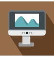 Computer monitor with photo on the screen icon vector image vector image