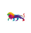 creative abstract colorful lion logo vector image