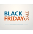 Cut out the paper lettering for black friday vector image vector image