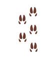deer footprints animal paw silhouette flat vector image