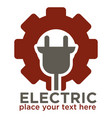 electric repair and electrician service and works vector image