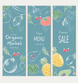 farm vegetables poster vector image vector image