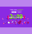 fitness 2019 new year concept workout typography vector image vector image