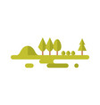 forest - flat style icon on white background vector image