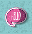 girly icon over background image vector image vector image