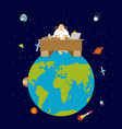god is boss earth director and desktop planet vector image vector image