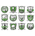 golf club badges championship heraldic icons vector image vector image