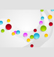 grey wavy background and colorful circles vector image