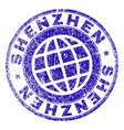 grunge textured shenzhen stamp seal vector image vector image
