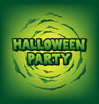 halloween party blood text vector image