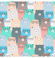 hand drawn bears pattern background vector image vector image