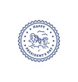 happy presidents day stamp icon american vector image