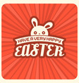 have a very happy easter headline and rabbit vector image vector image