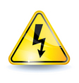 high voltage sign vector image vector image