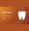 human dental tooth template banner design with vector image vector image