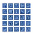 Icon set e-Commerce flat linear design shopping vector image vector image
