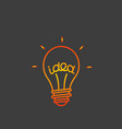 idea concept lightbulb icon vector image vector image