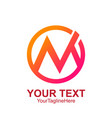 initial letter m logo template colorful circle vector image vector image