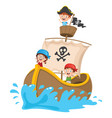 kids pirate ship vector image