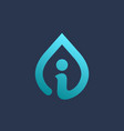letter i water drop logo icon design template vector image vector image