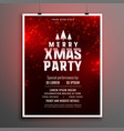lovely red christmas party celebration flyer vector image vector image