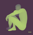 man in a thinker pose 3d model of man vector image