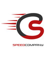 motorcycle helmet and speed logo vector image