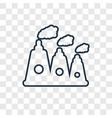 nuclear plant concept linear icon isolated on vector image
