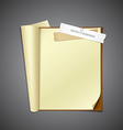 Open book and ripped paper vector image vector image