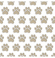 paw prints seamless pattern vector image
