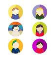 people in round frame vector image vector image