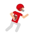 player american football icon vector image vector image