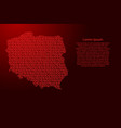 poland map map abstract schematic from red ones vector image
