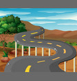 scene with road in the mountain vector image