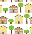 Seamless House Pattern vector image vector image