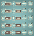 Set of sale labels retro vector image vector image